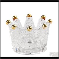 Titulares Déce Garden Drop entrega 2021 Decoração de festa de casamento Superior Qualidade artificial artificial cristal de cristal coroa castiçal home deco