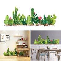 ملصقات الحائط الأخضر صبار ملصق 30 * 90 سنتيمتر النبات نمط باب المطبخ الديكور العملي المنزل المعيشة roo Q3E7