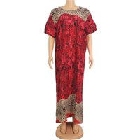Ethnic Clothing Floral Printed Multicolored Summer Women O-neck Dress Short Sleeve Elegant Casual African Dresses For Ladies