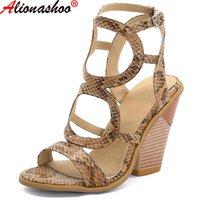 Aliona Shoo Women Sandals 여름 신발 여성 플러스 사이즈 48 발 뒤꿈치 웨지 Chaussure Femme 캐주얼 검투사 플랫폼 슬리퍼