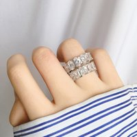 Ewige Liebe Euro aus Paar Ringe Frau Prong Einstellung Zirkon Kupfer Plating 18k Ring Für Frauen Einfache Hochzeit Engagement Brautjungfer Schwestern Schmuck mit BIX