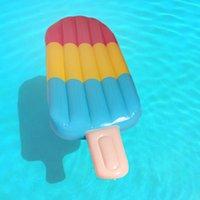Şişme yüzer tüpler inç yüzmek yüzük 180 cm dev çörek şamandıra havuzu popsicles su yüzme oyuncakları yetişkin dondurma klima yataklar