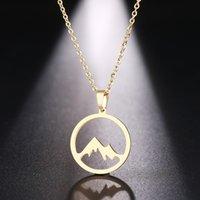 Ожерелье DOTIFI Нержавеющая сталь для женщин Человек Горный холм Золотой и Серебряный Цвет Подвеска Привлечение Ювелирные Изделия