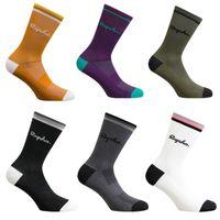 High Quality RAPHA Bicycle socks compression Cycling socks men and women soccer basketball socks 6 Color