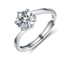 Adjustable Wedding Engagement Ring Crystal Women White Cubic Zirconia Rings Trend Female Love Jewelry