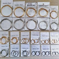 22Pairs/lot Gold & Silver Mix Classic Circle Hoop Earrings For Women Stainless Steel Huggie Earring Wedding Jewelry Party Gift SIZES ASSORTED 6CM-1.5CM