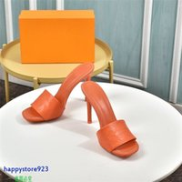 H02h latest 2021 style classic fashion leather slippers flip flop women's shoes sandals