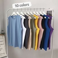 t shirt Sports vest men's solid color trend loose bottomed sleeveless T-shirt summer casual waistcoat