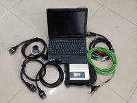Teşhis Aracı MB Yıldız C4 SD Connect ThinkPad X200T HDD Yazılım Xentry ile 12 V 24V için teşhis için hazır
