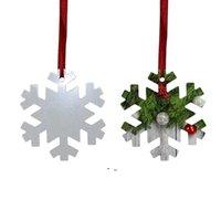 Sublimation Blank Christmas Ornament Double-Sided Xmas Tree Pendant Multi Shape Aluminum Plate Metal Hanging Tag Holidays OWF10820