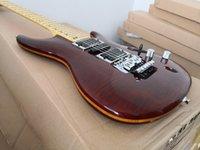Chitarra elettrica di 6 corde personalizzata S55, chitarra ultra-sottile della fronte, corpo in legno di frassino, ponte tremolo, pickup hsh, 24 tasti