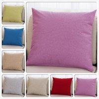 Pure Color Home Living Room Lobby Sofa Decors 45*45cm Pillowcase 17.7inch Cushion Cover Car Outdoor Chair Seat Back Pillow Case Cushion Deco