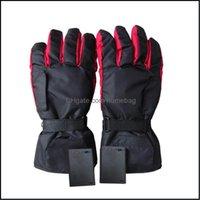 Ski Schutzausrüstung Schneesport im Freien wasserdicht beheizte Batterie angetrieben für Motorrad Jagd Reiten Skifahren Handschuhe Winterwärmer schwarz