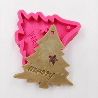 Ferramentas de Bolo Minsunbak Árvore de Natal Chocolate Silicone Molde Fondant Decoração Ferramenta Gumpaste Molde