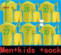 Yetişkinler ve Çocuklar 21 22 FC Nantes Futbol Formaları Çocuklar Ev Uzaktan 2021 2022 Louza Bamba Simon Kolo Muani Blas Coulidaly Jersey Futbol Gömlek Üniformaları