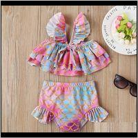 Two-Pieces Baby Baby, & Maternitybaby Girl Swimwear Mermaid Swimsuit 2Pcs Sets Children Bathing Suit Print Girls Bikinis Swim Clothes Summer