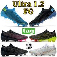 2022 Mode Ultra 1.2 FG Heren Soccer Cleats Schoenen Zwart Wit Multi-Color Roze Helder Blauw Paars Volt Mannen Voetbal Sneakers Trainers