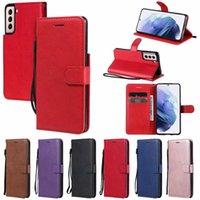 PU-Plain-Flip-Cover-Leder-Wallet-Fälle für iPhone 11 12 PRO Mini XR XS MAX 8 7 6 SE2 5 5S Telefonhalter Kredit ID-Karten-Slot-Stand-Kickstand-Mode-Taschen-Geldbörse