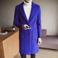 الشتاء الكلاسيكية أحدث تصاميم الصوف يمزج رجل الدعاوى الرسمية السترة مكتب الأعمال مكتب العمل سترة مخصصة الأزرق العلوي معطف الرجال السترة