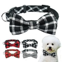 Dog Collars & Leashes Bownot Collar Plaid Cat Breakaway Small For Puppy Kitten Pets Chihuahua Toy Poodle