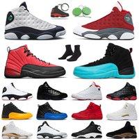 حذاء كرة السلة للرجال من Jumpman 13s من حجر السج أحمر فلينت هايبر رويال ولدت 12 ثانية لعبة الإنفلونزا العكسية جاما بلو جامعة ذهبية للرجال