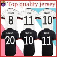Uomini + Kid Kit 2020 Kroos Brandt Reus Germania Soccer Jersey 2021 Casa Away Tista Camice da calcio Uniformi Adulto