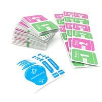 Tempered Glass Screen Protector Cleaning Tools Wet & Dry 2 in 1 Wipe Dust-Absorber Guide Sticker