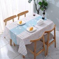 137 * 137cm 접합 패턴 식탁보 따뜻한 스타일, PEVA 소재, 방음 방지, 방수, 방수 차 테이블 천