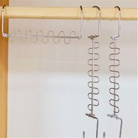 Cabides novos cabides de pano de pano de pano de metal cabide camisas Tidy Salvar espaço organizador de espaço pendurado para roupas EWF7757