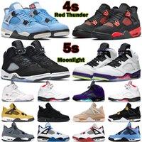 5s hommes femmes chaussures de basket-ball de basket-ballon air jordanier rétro 4 oreo lune lumière rage rouge tonnerre stealth 4s fire ce que l'argent pur argent Sports Sports Sports Sports