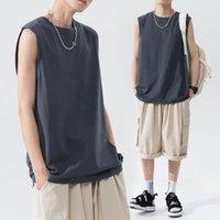 Men's Tank Tops Men Cotton Loose Sport Tanktop Mens Muscle Gym Bodybuilding Summer Fashion Vest Basketball Sleeveless Top