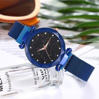 Wristwatches Luxury Diamond Ladies Magnet Watches For Women Quartz Wristwatch Starry Sky Watch TIMErelogio Feminino