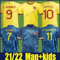 Colombiana Futebol Jerseys National Equipe uniformes Copa América Valderrama Sanchez James Football Jersey Cuadrado Duvan Man Kit Kit Camiseta de Colombianas 2021/22