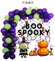 Halloween Balloons Set Bat Witch Ghost Helium Globos Foil Sets Party Decorations Toy Halloweens Decoration Supplies Baby Shower LLF10319