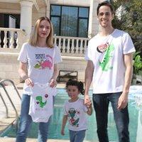 Trajes de combinación familiar camisetas Madre hija Tops verano manga corta algodón papa hijo historieta niños ropa ropa de bebé B6275
