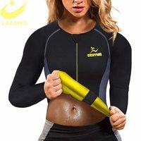 Lazowg Women Sudor Weight Pérdida Camisa Neopreno Cuerpo Shaper Sauna Chaqueta Traje Entrenamiento Largo Entrenamiento Ropa Burner Fat Burner Top