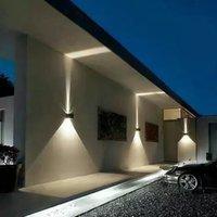 7W lampe murale imperméable lampe murale LED Sconces éclairs vers le bas en aluminium murs LED Indoor extérieur pour salle de bain Chambre à coucher salon porche Escaliers Hôtels Jardin Point de jardin