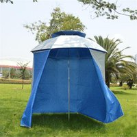 Tents And Shelters 4.8m Rainproof Wall Tent Cloth Of Fishing Umbrella Folding Shade Beach Sun Protect Apron Camping Equipment For Outdoor