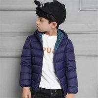 90% Duck Down Winter Down Jacket boy girl Child Kid Light Coat Hooded Thin Warm big boys Outerwears 1 2 4 6 8 10 12 14 16 Years 210914