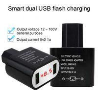 Auto 5V 3.1A Dual USB Digital Display PC 12V-100V bis 5V 3A Adapterladegerät für Elektrofahrzeug 6,4 x 4,6 x 2,6 cm