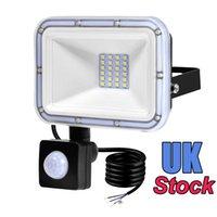 100 W 50 W PIR Hareket Sensörü Sel Işık Açık Projektör, 30 W LED Güvenlik Işık, IP66 Su Geçirmez Açık, Patio Yolu için Beyaz 6500 K Indüksiyon Aydınlatma
