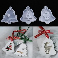 Craft Tools Christmas Tree Elk Snowflake Shape Silicone Mold For Handmade Cake Decorate Chocolate Fondant Candle Mould Baking DIY