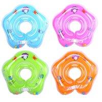 Детские плавательные шеи поплавок надувные регулируемые кольцо Безопасный толстый с безопасным замком поплавки трубки