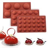 Ball Sphere Silicone Moule pour gâteau Pâtisserie Cuisine chocolat Candy Fondant Cuisson Cuisson Forme ronde Moule de moulage DIY DIY Décorer GWE6761