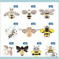 Kristall Strass und emaillierte Biene Hornet Brosche Pins Für Frauen Mode Kostüm Schmuck Zubehör Geschenk Qouvx Raej
