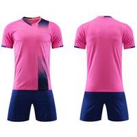 2021 Rosa Fußball Sets Football Hemd Herren und Frauen Erwachsene Trainingsanzug Light Board Persönlichkeit Kinder Kurzarm Jersey
