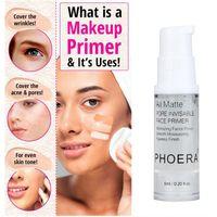 PHOERA Langlebige transparente Makeup-Gesichts-Primer-Lotion-Oilcontrol Feuchtigkeitsspendende Kosmetikmilchfundament-Found-Makeup