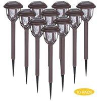 Tomshine 10 Pack Luzes de gramado movidas a energia LED Lâmpada de jardim de água IP44 Luz de paisagem à prova d'água para lâmpadas de jardim do pátio