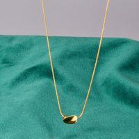 Edelstahl Gold Twist Reis Körner geformte Schlangenkette Anhänger Halskette Frauen Mode Minimalismus Schmuck Geschenk für ihn Ketten