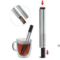 Newtea Ситечко палочка из нержавеющей стали Труба дизайн сетки чайный фильтр портативный чай инфуз чайник HWD8494